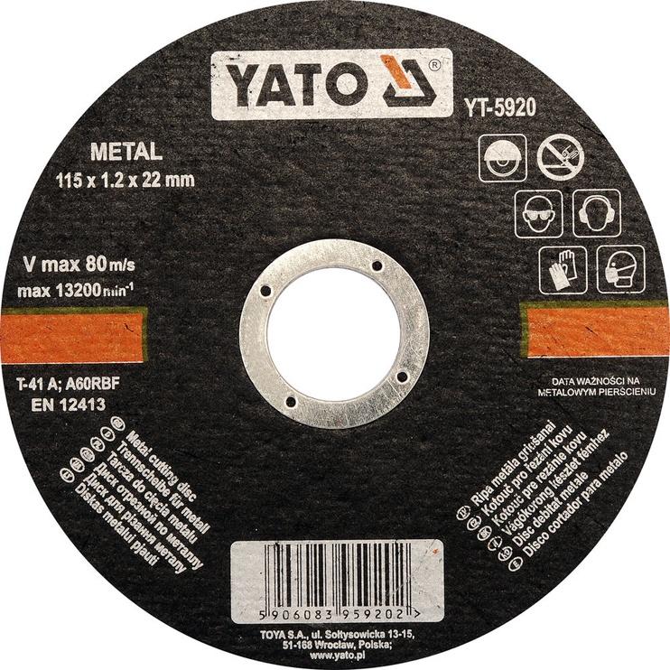 Yato YT-5920 Metal Cutting Disc 115mm