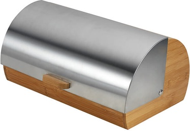 Maestro Bread Box 35x18x16cm Metallic/Brown