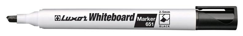 Luxor Whiteboard Marker Black 651
