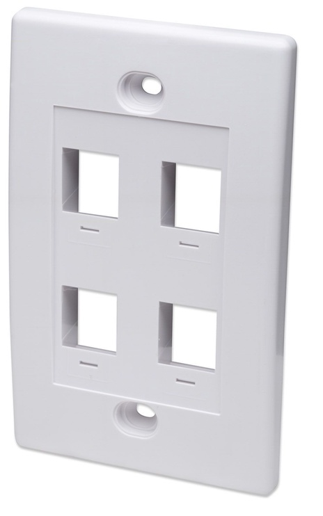 Intellinet 4 Port Keystone Plate White