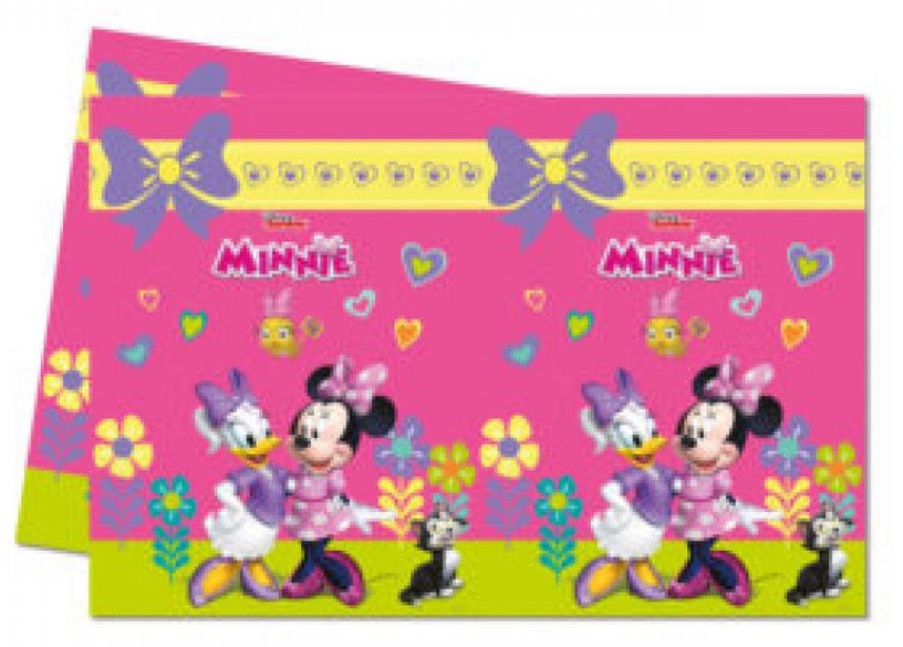 Procos Minnie Happy Helpers Plastic Tablecover 12 pcs 120x180cm