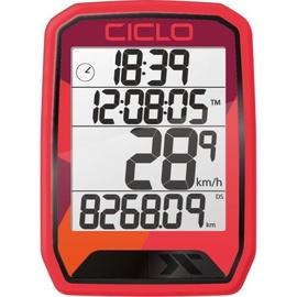 CicloSport Protos 213 Wireless Bike Computer Red