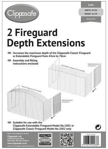 Clippasafe Fireguard Depth Extensions 2pcs