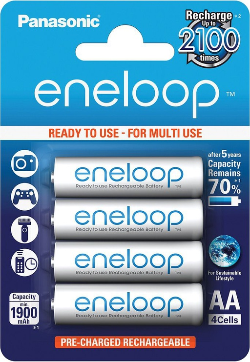 Panasonic Eneloop Rechargeable Battery 4xAA 1900mAh