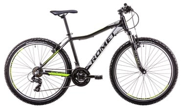 """Jalgratas Romet Rambler R6.1 JR 19"""" 26"""" Black Neon Green 19"""