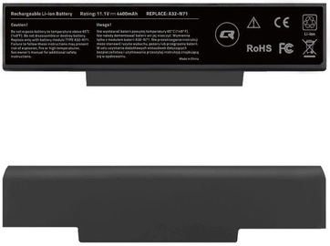 Qoltec Long Life Notebook Battery For Asus A32-K72 4400mAh