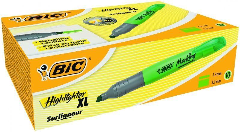 BIC Brite Liner XL Text Marker Green 10pcs 247147