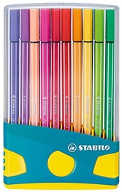 Stabilo Pen 68 Color Parade Turquoise/Yellow Case