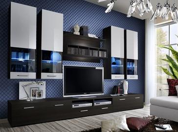 ASM Dorade Living Room Wall Unit Set Wenge/White
