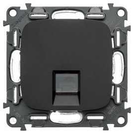 COMPUTER SOCKET CAT5E ALLURE BLCK 754302