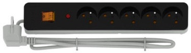 Acar Surge Protector X5 5 Outlet Black/White 1.5m