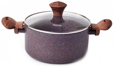 Fissman Magic Brown Casserole With Glass Lid D20cm 2.7l Brown