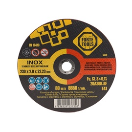 Отрезной диск FORTE TOOLS, 230X2X22.23 MM, INNOX