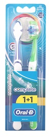 Oral-b Complete 5 Way Clean Manual Medium 1+1 Toothbrush