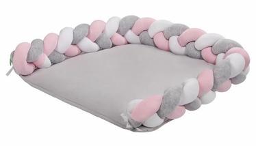 Lulando Braid Welur Changing Mat White/Pink/Grey