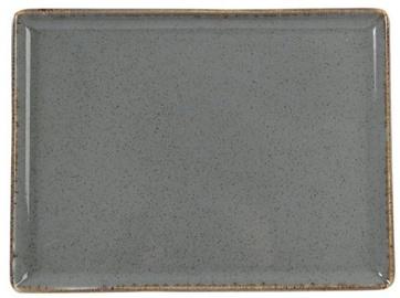 Porland Seasons Serving Plate 27.2x21cm Dark Grey