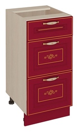 DaVita Viktorija 20.59 Kitchen Bottom Cabinet Astrid Pine/Bordeaux