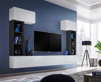 ASM Blox II Living Room Wall Unit Set White/Black