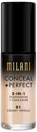 Milani Conceal + Perfect 2in1 Foundation + Concealer 30ml 01
