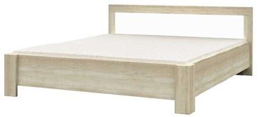 Voodi Idzczak Meble Milan Sonoma Oak/White, 160 x 200 cm