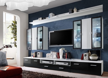 ASM Iceland Living Room Wall Unit Set White/Black