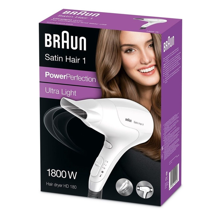 Föön Braun Satin Hair 1 PowerPerfection HD180 White