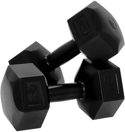 SportVida Hexagonal Shape Dumbbell Set Black 2x6kg