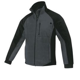 Fleece Work Jacket Black/Grey XXL