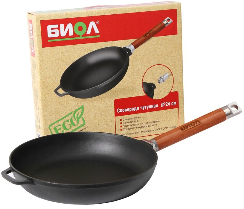 Biol Frying Pan with Removable Handle 24cm