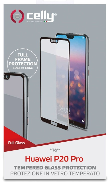 Celly Full Glass Screen Protector For Huawei P20 Pro Black