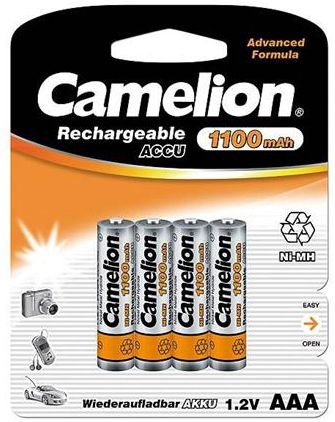 Camelion Rechargeable Batteries Ni-MH 4x AAA (R03) 1100mAh