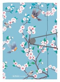 Herlitz Expanding File A4 PP 12 Tabs Ladylike Birds