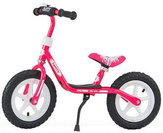 Milly Mally Dusty 12'' Balance Bike Pink White 3326