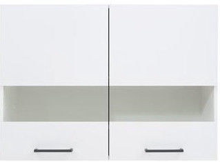 Black Red White Kitchen Upper Cabinet Junona Line G2W/80/57 White