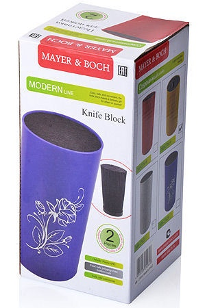Mayer&Boch Knife Block D22cm White With Marbles