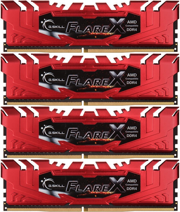 G.SKILL Flare X for AMD 64GB 2400MHz CL15 DDR4 KIT OF 4 F4-2400C15Q-64GFXR