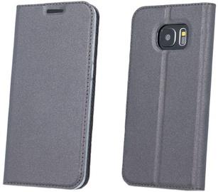 Blun Premium Smart Magnetic Fix Book Case For Samsung Galaxy S8 Plus Grey