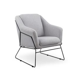 Кресло Halmar Soft 2 Light Grey, 76x69x81 см