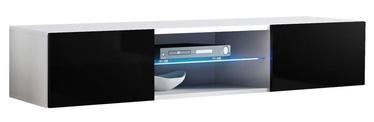 ТВ стол ASM RTV Fly 33 White/Black Gloss, 1600x400x300 мм