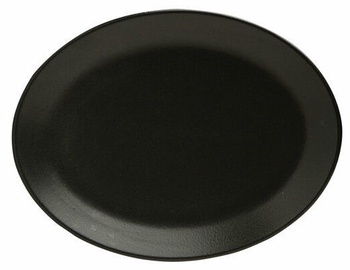 Porland Seasons Oval Plate 23.7x31cm Black