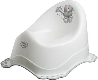Maltex 2 Component Chamber Pot Bear White/Grey 4064-60
