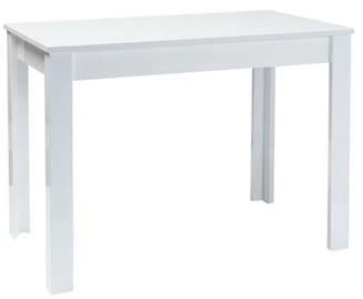 Обеденный стол Signal Meble Scandinavian Albert, белый, 1000 - 1400x600x750мм