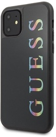Guess Glitter Logo Back Case For Apple iPhone 11 Black