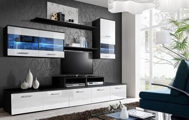 ASM Logo II Living Room Wall Unit Set LED Black/White