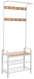 Songmics Coat Rack With Shoe Bench White