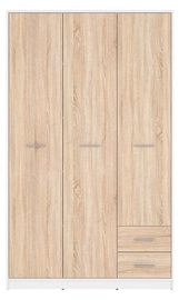 Black Red White Nepo Plus Wardrobe Sonoma Oak/White