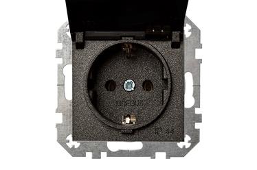 Liregus Socket Without Frame 16-208-01 E/J Black