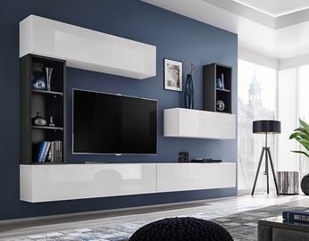 ASM Blox I Living Room Wall Unit Set White/Black