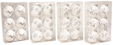Verners Christmas Tree Balls White 6pcs