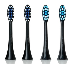Beconfident Sonic Toothbrush Heads Regular/Whitening Black 4pcs